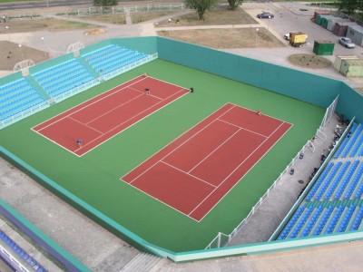 2 теннисных корта во Дворце тенниса, г.Минск, Беларусь