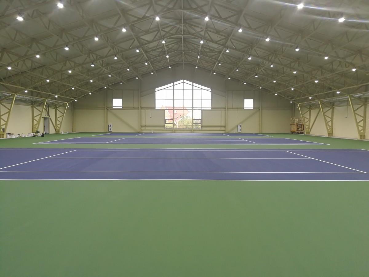 Теннисный корт в д. Валерьяново: фото