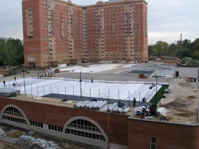 Футбольное коле на крыше. Одинцово, Московская область