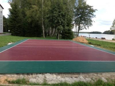 Волейбольная площадка в санатории 'Белорусочка', пос. Ждановичи, Беларусь