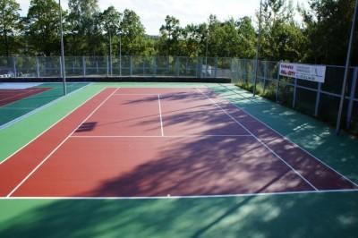 Теннисный корт в ГСОК