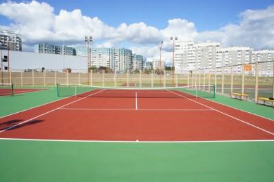 Теннисный корт для средней школы микрорайона. Вишневец, г.Гродно, Беларусь