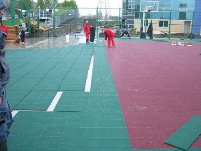 Универсальная спортивная площадка на крыше дома гребли. г.Минск, Беларусь