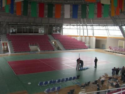 Волейбольная площадка в центре